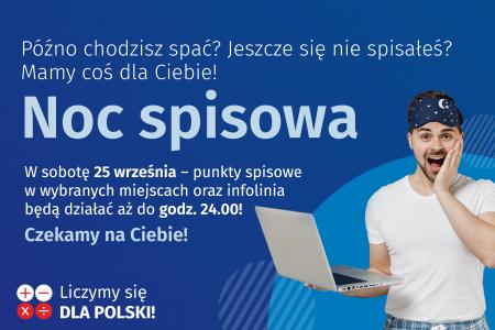 Noc Spisowa w ramach Narodowego Spisu Powszechnego...